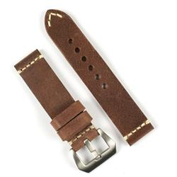 BandRBands 22mm russet vintage leather watch band