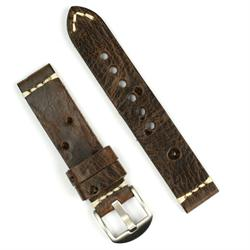 BandRBands 20mm watch band in antique bullet hole vintage leather