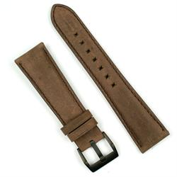 22mm brown bomber leather watch band with a tang buckle for the bell and ross br123 and br126 watches