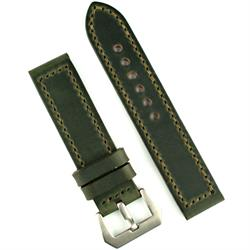 22mm 24mm Panerai Vintage Watch Band Strap in Forest Green Horween Chromexcel Leather
