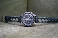 BandRBands 20mm Black Rallye Strap on Omega Speedmaster