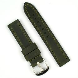 BandRBands 20mm watch band made from military green vintage leather