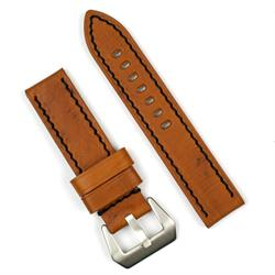 Panerai Leather Watch Band Strap in Tan Vintage Wood