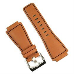 BandRBands Watch Band in golden heritage leather with black stitching