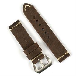 BandRBands 22mm saddle brown vintage leather watch band strap