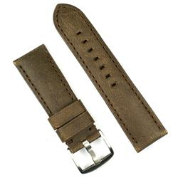 24mm leather watch band strap in a brown bomber leather
