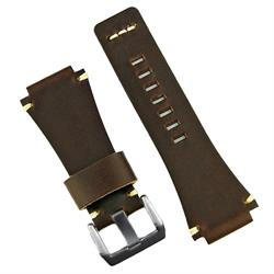Chestnut Vintage Bell and Ross Watch Band Strap made from premium Italian leathers with ecru minimal stitching