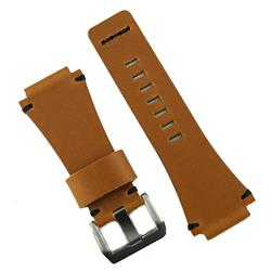 Bell and Ross replacement leather watch strap band made from premium Italian leather with black minimal stitches BandRBands