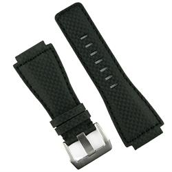 Bell and Ross Carbon Fiber Leather Watch Band Strap for all BR01 and BR03 models