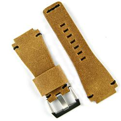 Bell & Ross Classic Vintage Leather Watch Strap Band in Distressed Glove Leather