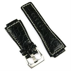 Bell And Ross Leather Watch Strap Band made from genuine crocodile leather