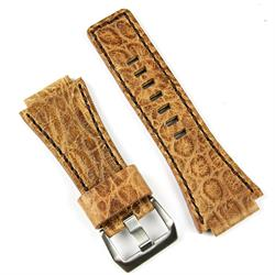 Bell & Ross Watch Band Strap made from Italian Vintage Leather with a matching brown stitch