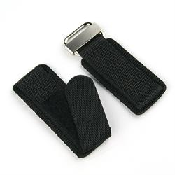 20mm 22mm 24mm Velcro Watch Band Strap in Black Nylon with a stainless steel buckle