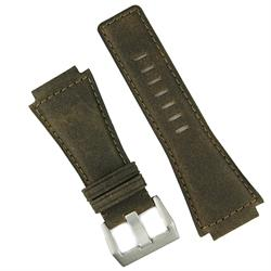 Bell & Ross Vintage Leather Watch Band Strap made from brown bomber quality leather with a matching stitch br01 br03