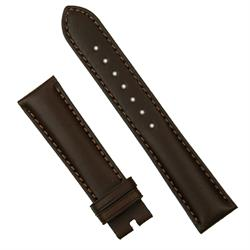 22mm brown calf watch band strap for deployant buckles