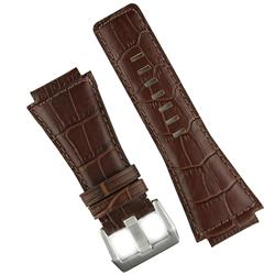 BandRBands Bell and Ross Watch Band Strap In Brown Gator Leather for BR01 BR03 Watches