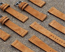 BandRBands Camel Vintage Suede Watch Band Strap available in 18mm 20mm 22mm lug widths