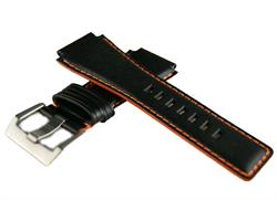 Replacement Horween Leather Watch Band Strap for Bell and Ross BR01 BR03 Watches with orange stitching