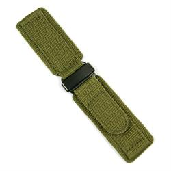 Military Green Velcro Watch Band Strap in 22mm lug size