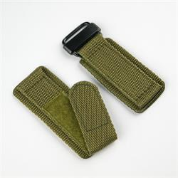 BandRBands 20mm 22mm 24mm velcro watch band strap in drab olive with a pvd buckle