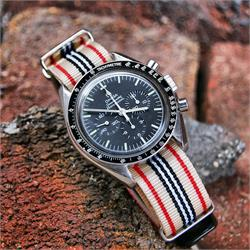 BandRBands 20mm Nylon Watch Strap Band on a Omega Speedmaster Watch