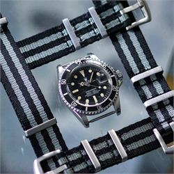 20mm Classic Bond Nylon Seat Belt Nato Watch Strap Bands on a Vintage Rolex Submariner 1680 dive watch