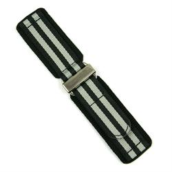 20mm Nylon Velcro Watch Band in a James Bond Style design with a Stainless steel buckle