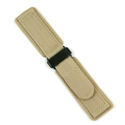 20mm Khaki Nylon Velcro Watch Band with a Black PVD buckle