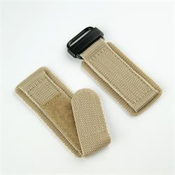 BandRBands 20mm 22mm 24mm Khaki Nylon Velcro Watch Band Strap with a pvd buckle