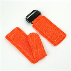BandRBands Orange Nylon Velcro Watch Band Strap with a pvd buckle for all 20mm 22mm 24mm lug width watches