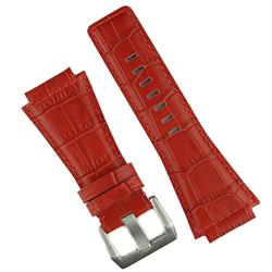Bell & Ross Replacement Watch Strap Band in Red Gator Leather for BR01 and BR03 pilot watches
