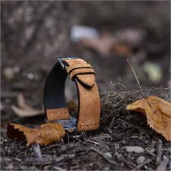 18mm Suede Watch Strap Band in Camel Vintage Leather BandRBands