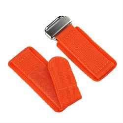 20mm 22mm 24mm Orange Double layered nylon Velcro Watch Band Strap with stainless steel hardware B & R Bands